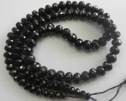 AAA+ SUPERB MICRO-FACETED SPINEL ROUNDEL BEAD STRAND