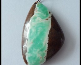 67Ct Natural Chrysoprase Gemstone Lucky Pendant Bead