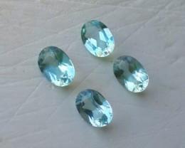 2.55 cts - Sparkling Luster - Oval Gem - Natural Aquamarine Parcel