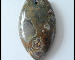 90.5Ct Natural Rhyolite Gemstone Pendant Bead