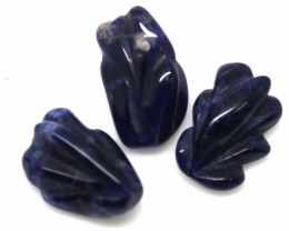 16.70 CTS SODALITE CARVINGS 3 STONES LT-567