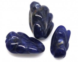 15.05 CTS SODALITE CARVINGS 3 STONES LT-569