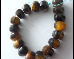 190.5ct Faceted Tiger Eye Gemstone Beads Strands