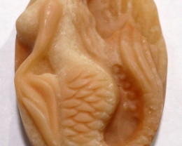 BEAUTIFULLLY CARVED MERMAID IN AVENTURINE - 173.85CT
