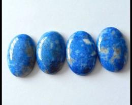 4 PCS Natural Lapis Lazuli Gemstone Cabochons