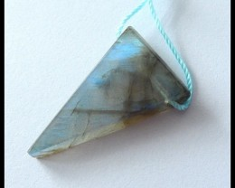 19Ct Natural Triangle Labradorite Gemstone Pendant Bead