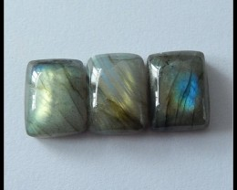 3 PCS Natural Labradorite Gemstone Cabochons,40.75ct