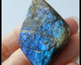 93.5ct High Quality Blue Flashlight Labradorite Gemstone With Rough Surface