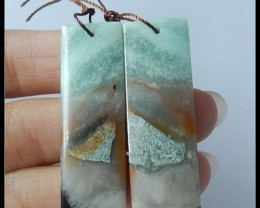 54.2ct Natural Bi Color Amazonite Earring Beads
