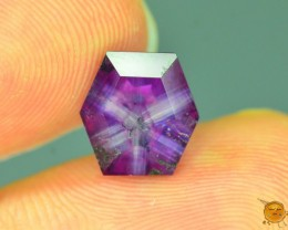 Certified Rarest 3.7 ct Trapiche Pink Kashmir Sapphire