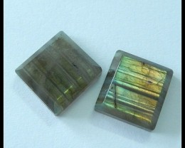 27.3ct Natural Labradorite Gemstone Cabochon Pair(C0031)