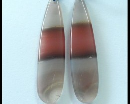 34.8Ct Precious African Agate Natural Gemstone Earring Bead