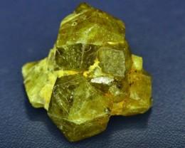 Rare 5.875 grams Demantoid Garnet Cluster Specimen
