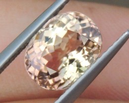 2.55cts,  Vivid Peach,  Tourmaline, No Treatment,  Eye Clean