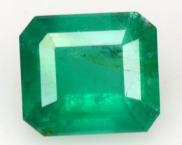 ~CERTIFIED~ 1.70 Cts NATURAL GREEN EMERALD OCTAGON BRAZIL GEM