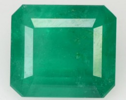 ~CERTIFIED~ 2.37 Cts NATURAL GREEN EMERALD OCTAGON BRAZIL GEM