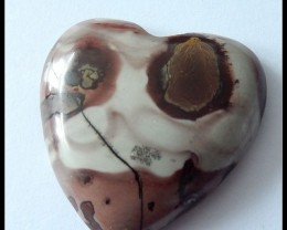 96.5Ct Natural Chohua Jasper Heart Gemstone Cabochon