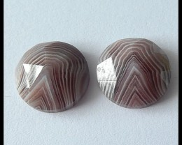 15.95 Ct Faceted Agate Gemstone Cabochons Pair(C0071)