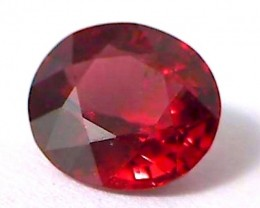 CERTIFIED 2.011ct Orangey Red Spinel Burma, THM21