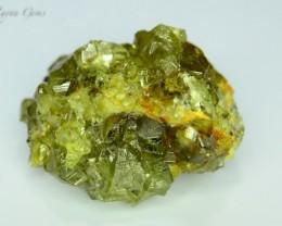 Rare 5.371 grams Demantoid Garnet Cluster Specimen