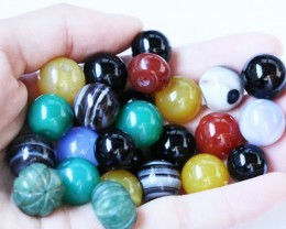 410 cts parcel Agate beads  10 mm BU 1590