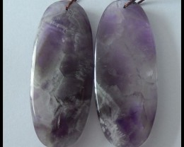 74 Ct Natural Amethyst Earring Beads