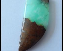 33.5Ct Natural Chrysoprase Gemstone Pendant Bead
