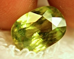 5.49 Carat Natural Green Russian Sphene - Superb