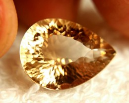 15.51 Carat Brazilian VVS1 Golden Brown Topaz