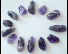 Gemstone Amethyst 12pcs Polished Cabochons,81.55ct