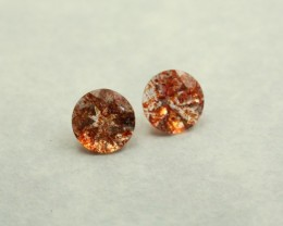 SUNSTONE  ROUND SHAPE PAIR