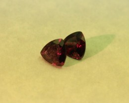 REAL GRAPE GARNET TRILLION PAIR
