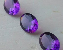 5.04 cts natural Purple Amethyst Exquisite Glister Dazzling 9.0x7.0mm