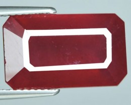11.15 CTS AWESOME BEAUTIFUL RED RUBY SHAPE OCTAGON CUT GEMSTONE