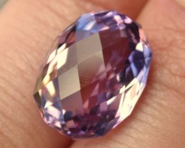 14.00 Carat Oval Checkerboard Cut Blended Ametrine