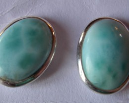 BEAUTIFUL EARINGS STERLING SILVER WITH  LARIMAR STONES