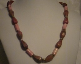 MULTI-COLOR RODONITE NECKLACE