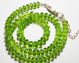 Natural AAA grade microfacetted peridot beads  170 carats
