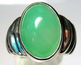 CHRYSOPHASE STERLING SILVER RING SIZE11 G351 OA