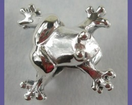 PENDANT BEAD OR BEAD CHARM - STERLING SILVER CUTE LITTLE FROG