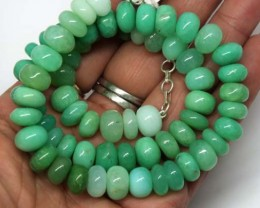 CHRYSOPRASE NECKLACE 330 CTS  TBJ-705