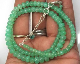 CHRYSOPRASE NECKLACE 107  CTS   TBJ-706