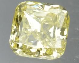 0.12 Cts Natural Peach Yellow African Diamond Cushion Cut