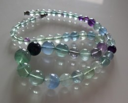 VERY NICE FLUORITE NECKLACE 45 CMS