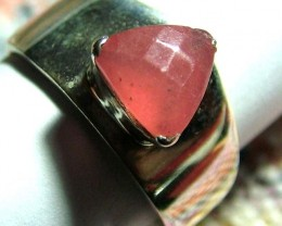 28.39  CTS  RHODHONITE RING NICE DESIGN  SIZE-9 SG-2247