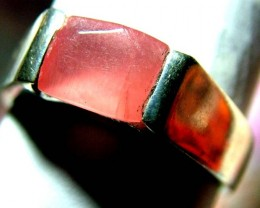 24.10 CTS  RHODHONITE RING NICE DESIGN   SIZE 8   SG-2249