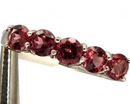 SPINEL  SILVER RING   12.20 CTS  SIZE-8.75    RJ-222