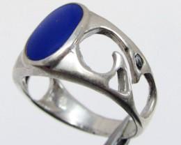 lapis lazuli in silver Ring siz e 10    MJA 708