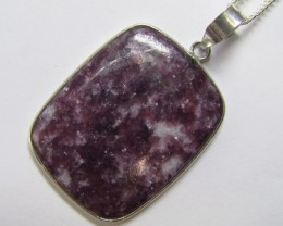 60 Cts Beautiful lepidolite Pendant MJA 903