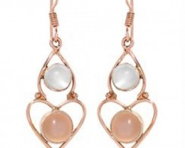 NEW-4.98CTW GENUINE MOONSTONE EARRINGS